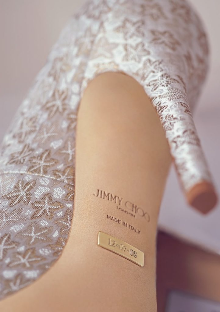 e8d07b28579ca9 The perfect keep-sake  personalize your Jimmy Choo wedding shoes ...